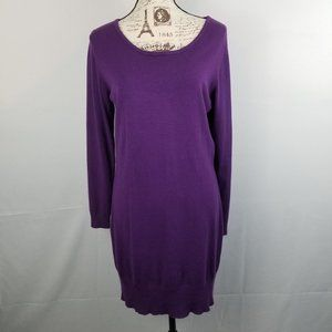 Charlie Paige Purple Stretchy Sweater Dress